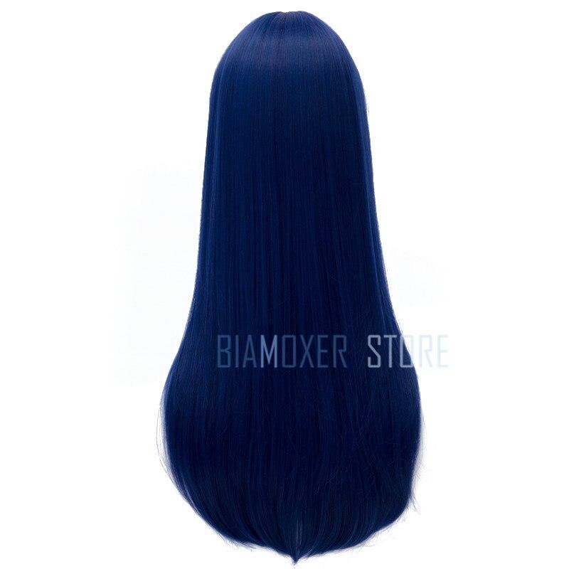 Biamoxer Love Live Сонода Уми длинные Косплэй парики синий фиолетовый цвет жаропрочных синтетических волос Perucas Косплэй парик