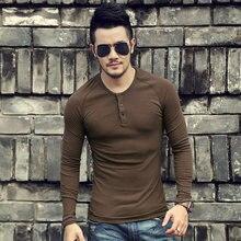 Camisa de algodão de manga comprida de algodão de manga comprida de manga comprida masculina nova
