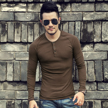 Henley Shirts Brand t-shirt Slim Fit Sol