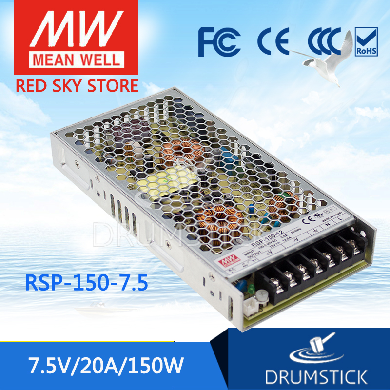 все цены на Advantages MEAN WELL RSP-150-7.5 7.5V 20A meanwell RSP-150 7.5V 150W Single Output with PFC Function Power Supply онлайн