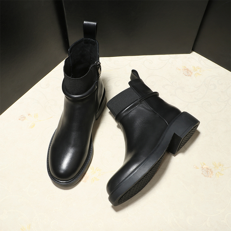 Zip Qualität Velvet Knöchel Stiefeletten Neue 2018 Schuhe Frauen Wasserdichte Hohe black Stiefel Weibliche Mycolen Gummi Kurze Plus Schwarzes T7U8xqI8