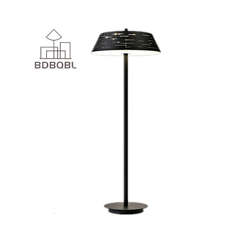 Bdbqbl Black White Led Floor Lamp Light Fixtures Nordic Polishing Restaurant Bedroom Modern Famous Design Fashion Study In Lamps From Lights