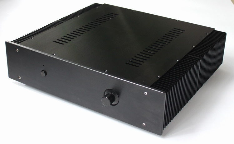 AMP case size:463*113*430mm WA43 Blak Full aluminum amplifier chassis/Pre-amplifier/Class A amplifier/AMP Enclosure/case/DIY box wa19 aluminum chassis pre amplifier chassis enclosure box 313 425 90mm