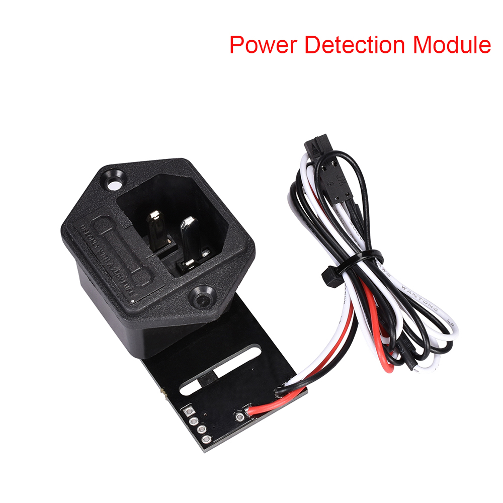 MK3 Power Panic V 0.4 10A 250V Fuse Switch For Power Supply Power Detection Module Socket With Cable For 3D Printer Parts Reprap