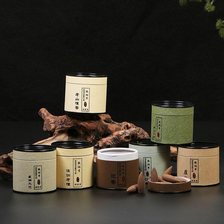100% натуральный Сандал обратного Ладан конусов ручной работы agarwood конусов Ладан помочь сна полыни incenso диск от комаров