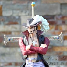 One Piece Dracule Mihawk  the best sword knight-errant PVC DX the highest quality Hawk Eye Ver. Anniversary Action Figure Loose