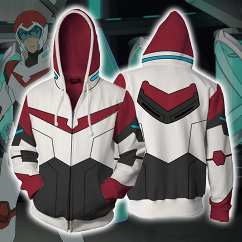 6 Styles Anime Voltron Rance Cosplay Hoodie Costumes Zipper Sweatshirts 3D Printing Jackets Unisex Adult Clothing