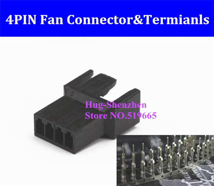 Factory Price 4pin 4 Pin PWM Fan Female connector with terminal crimp Pins - Black factory price 4mm marking machine pin with copper cover