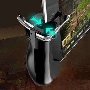 Image 2 - PUBG المحمول الزناد/تحكم النار زر تهدف مفتاح المحمول ألعاب قبضة مقبض L1R1 مطلق النار المقود لباد اللوحي و الهاتف 2in1