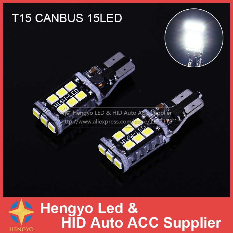 White W16W T15 LED 912 921 Canbus No Error for Samsung 2835 SMD 15 Led 360 Degrees 12v Car Auto Backup Reverse Light lamps Bulb
