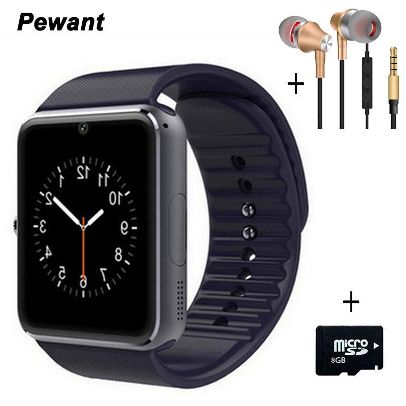 Bestseller bluetooth smart watch gt08 für android wristwear mit sim-karte kamera smart uhr passometer sync smartwatches