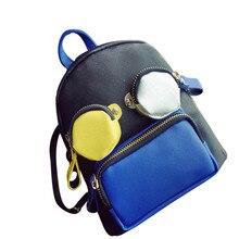 Студентов PU Рюкзак для подростков девочек Back Pack школьные рюкзаки Забавные милые кожа Персонализированные Женская дорожная сумка рюкзак