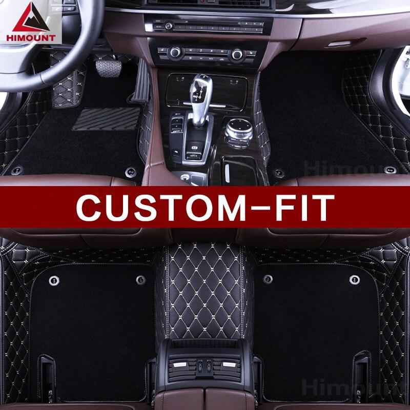 Tapis de sol de voiture personnalisée pour BMW 3 5 6 7 série E90 F30 E60 E61 F10 F11 F07 G30 E63 F12 F13 E65 F01 F01 G11 G12 tapis doublures