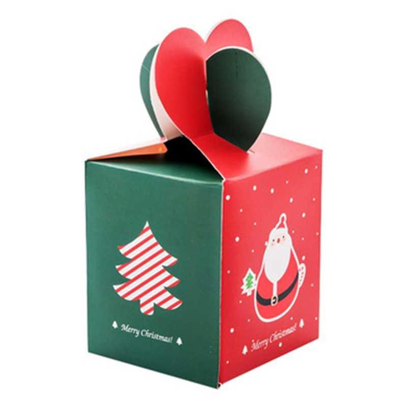 Véspera de Natal feliz Natal Listrado Estilo Caixa de Maçã Especial Cookies Caixa de Embalagem Caixa de Presente Caixa de Doces Do Boneco de neve