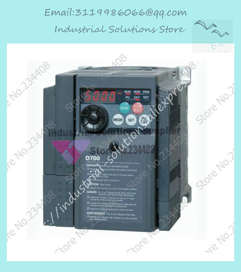 Input 3 ph 380V Output 3 ph Inverter FR-D740-5.5K-CHT 380~480V 12A 5.5KW 0.2~400Hz New Original