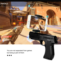 AR Gun Toy Smart Pistol Bluetooth Game Handle Controllers W Phone Stand Kids Relief Stress 3D