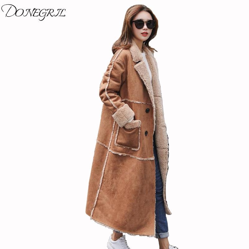 2018 Winter Nieuwe Vrouwelijke Kleding Vrouwen Lederen Jas Casual Mode Jassen Womens Faux Fur Lady Kunstmatige Bontjas Overjas Duurzame Modellering
