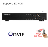 Seculink 8CH 16CH 1080N 5 in 1 AHD DVR CCTV Surveillance Recorder HDMI VGA H.265 Compression P2P Remote Support 2x HDD