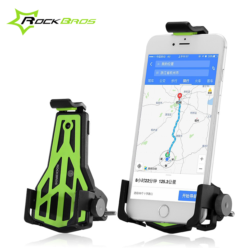 ROCKBROS Anti-Slip MTB Mobile Phone Holder Bike <font><b>Accessories</b></font> Mountain Bike Cycling Holder 360 Rotate for Cellphone Bicycle Holder