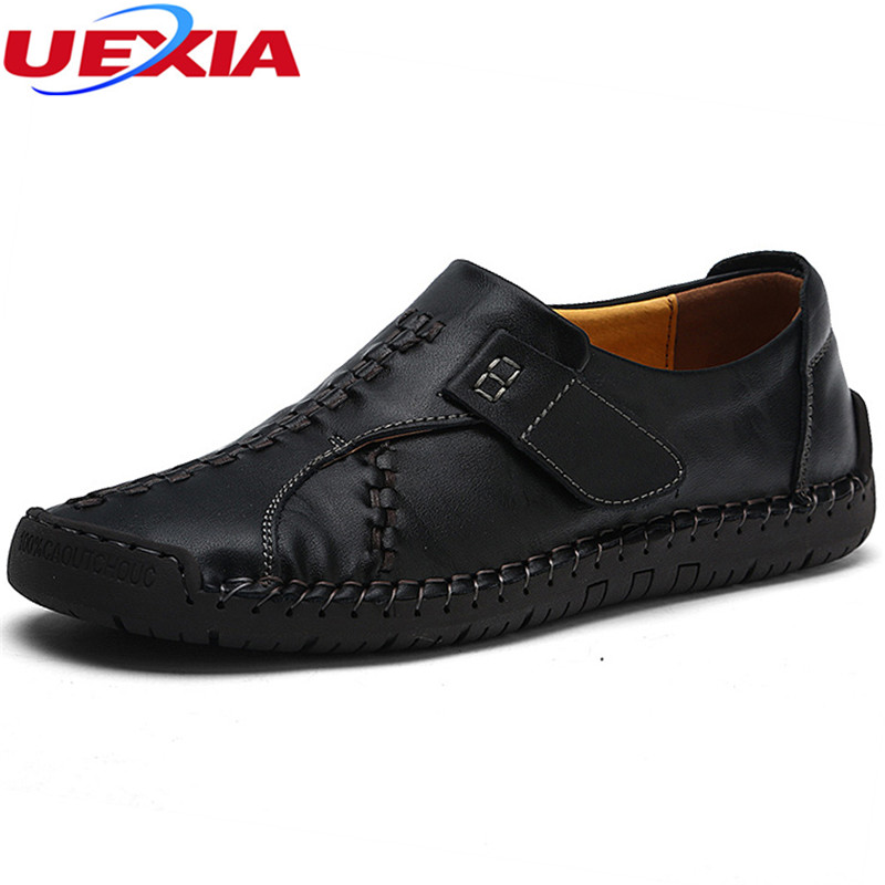 UEXIA Handmade Leather Casual Men Shoes Fashion Men Flats Exquisite design Non-slip Comfortable Breathable Trainers zapatillas 2017brand sport mesh men running shoes athletic sneakers air breath increased within zapatillas deportivas trainers couple shoes
