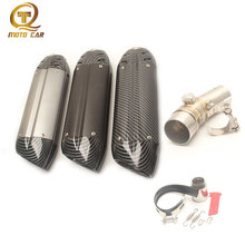 Motorcycle Exhaust Muffler 51MM Slip on Link Pipe Connector Dirt Bike Escape Moto for Kawasaki Ninja ER6N MIVV Exhaust Systems