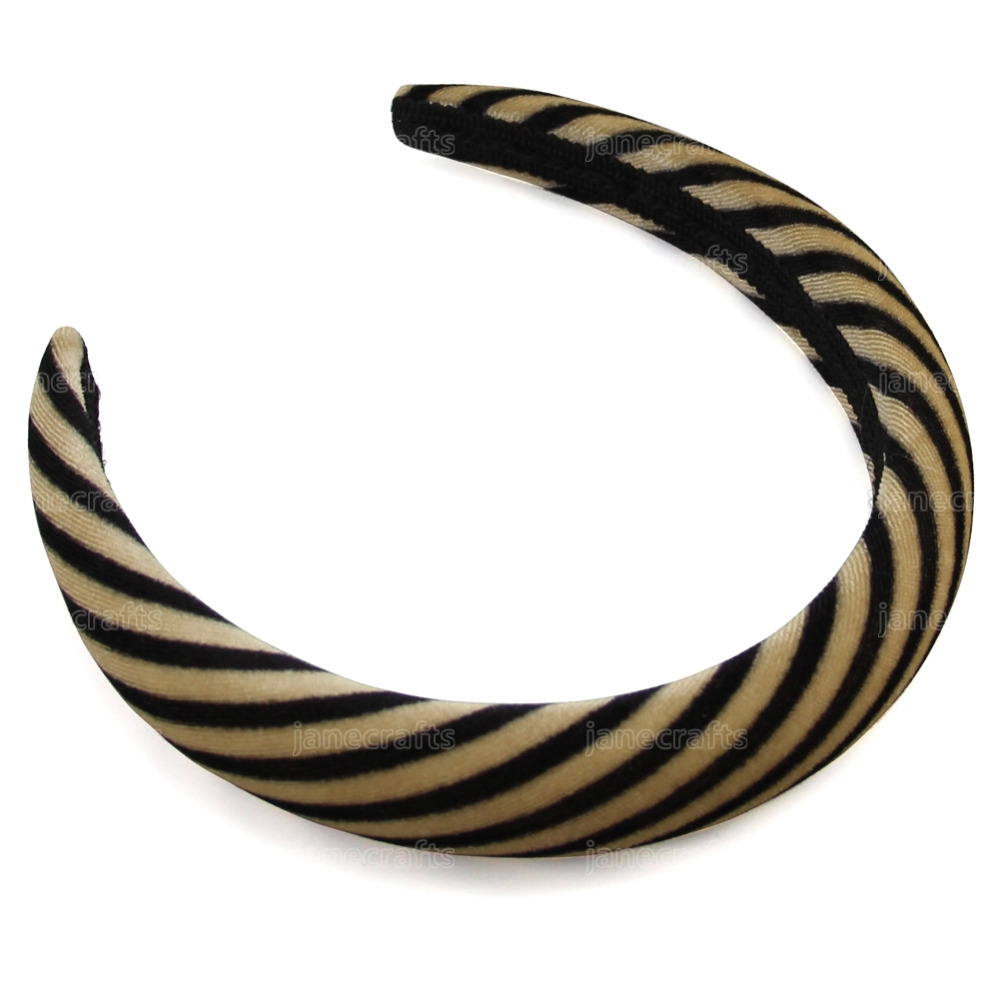 Guld & Svart 2.5cm Striped Velvet Headband för kvinnor Hairband Headwear Korta Mode Women Hair Accessoarer Drop Shipping