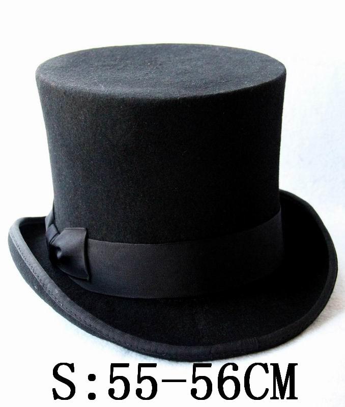 c05edf6fb4296f Aliexpress.com : Buy Black Child Steampunk Hat DIY Kids Top Hat Vintage Boy  girl Traditional Wool Fedoras Hat Beaver Hat from Reliable wool fedora hats  ...