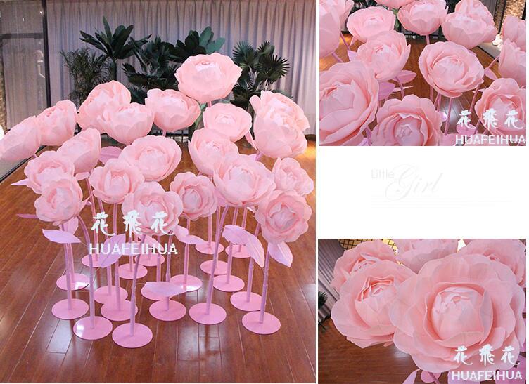 La fenêtre décoration studio fond de mariage décorer l'image bâtiment accessoires grande simulation fleur monde rose.