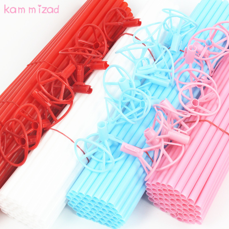 Responsible Kammizad 50pcs/100pcs Balloon Stick Ballons & Accessories