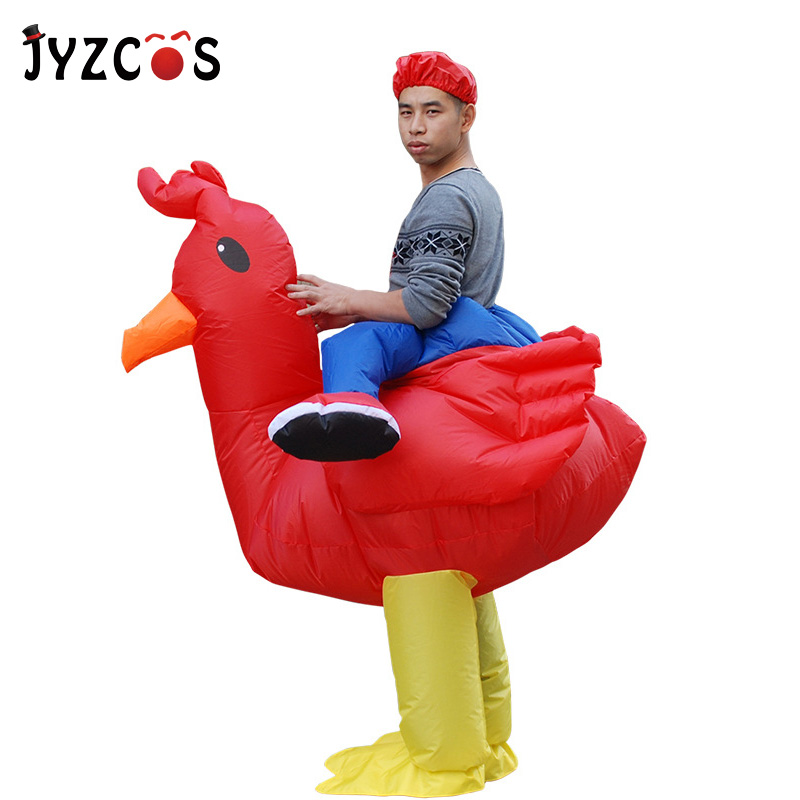JYZCOS Inflatable Rooster Costume Adult Carnival Costumes Purim Halloween Costumes for Women Men Anime Cosplay Costume