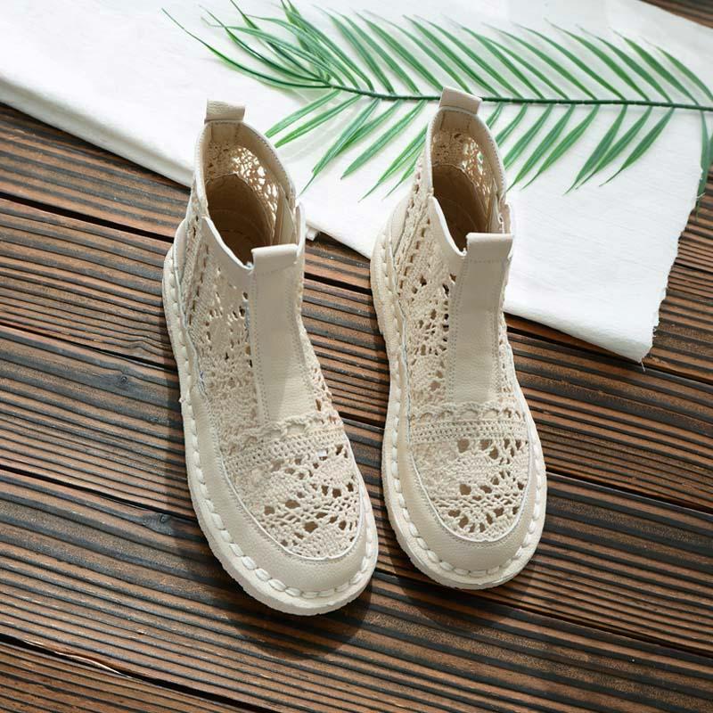 2019 Summer New Flat Openwork Lace Sandals Women's Gentle Shoes