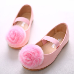 2016 Children Princess sandals Kids Girls wedding shoes high quality shoes with big pompom baby girls party shoes cute sandals