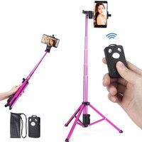 3 in 1 Handheld Tripod Selfie Stick Bluetooth Mini Tripod Monopod Travel Tripod for iPhone Camera Smartphone SJCAM
