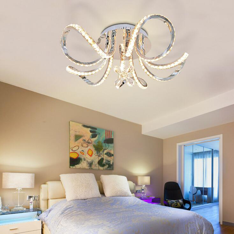 Bedroom crystal lamp ceiling bedroom living room ceiling lamp modern minimalist bedroom lamp LED creative children led lighting scandinavian creative color balloon personalized acrylic modern minimalist ceiling lamp nursery children room bedroom light