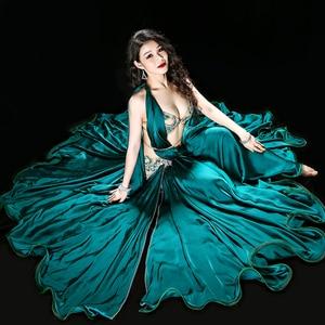 Image 3 - Professional Egyptian belly dance Original Dance dress Handmade Bra+Skirt+belt +Safety pants stage Performance Suits Costume