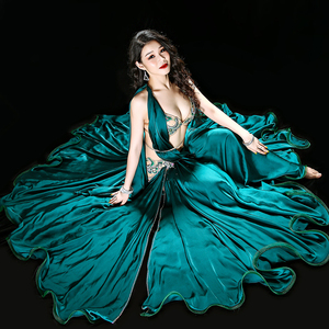 Image 3 - Professionale Egiziano danza del ventre vestito Da Ballo Originale Handmade Del Reggiseno + Skirt + cintura + pantaloni di Sicurezza Vestiti di Prestazione della fase Costume