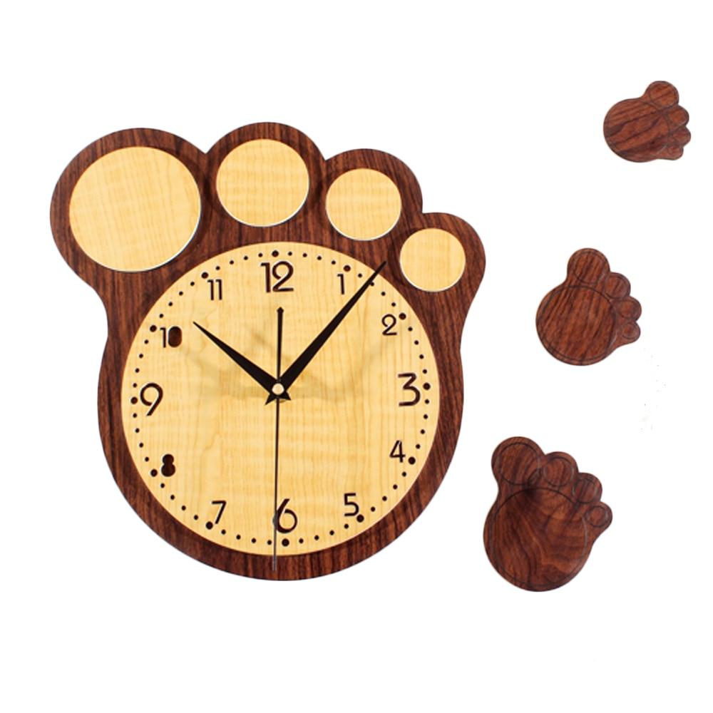 Big Footprints Wall Clock Pastoral Retro Vintage Watch Home Decor ...