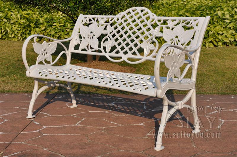 Купить с кэшбэком 45 inch cast aluminum Patio garden bench park bench courtyard leisure conversation seating set for home furniture decor
