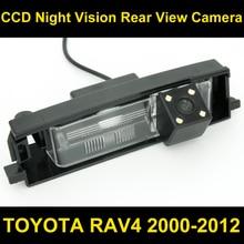 Waterproof 0Lux/ 4 LED Rear view Camera BackUp Reverse Parking Camera for TOYOTA RAV4 2000-2012 Car reverse camera 8067LED