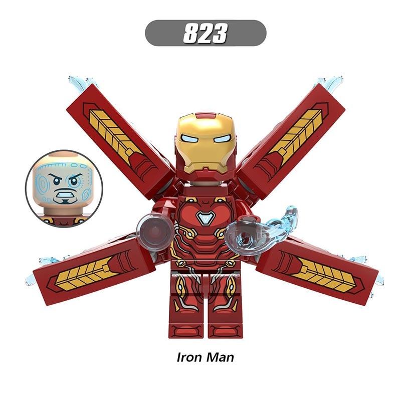 Single Sale LegoINGlys Super Heroes Avengers 3 Infinity War Figures Iron Man Bricks Building Blocks Children Gift BoysToys X0187