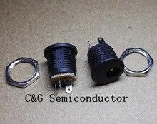 500 יחידות DC 022 5.5 2.1 אגוז בורג חור עגול שקע חשמל DC/שקע/שקע איכות טובה ROHS