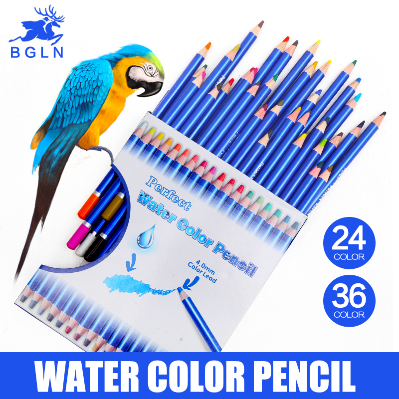 Bgln 24/36 Colors Water-soluble Colored Pencil Set Non-toxic Lead-free Colored Pencil Writing Pen Office & School SuppliesBgln 24/36 Colors Water-soluble Colored Pencil Set Non-toxic Lead-free Colored Pencil Writing Pen Office & School Supplies