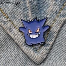 Homegaga Pocket monster Gengar Zinc tie cartoon Funny Pins backpack clothes brooches for men women hat decoration badges D1519
