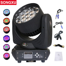 19x15W RGBW 4in1 LED Zoom Moving Head Light Moving Head Wash Luz DJ Profissional Boate Discoteca Festa luz/SX-MH1915A(China)
