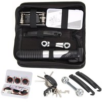 26 Pcs Bicycle Repair Multi Tools Kit Set Mountain Bike Cycle Puncture Tyre Pump 16 In