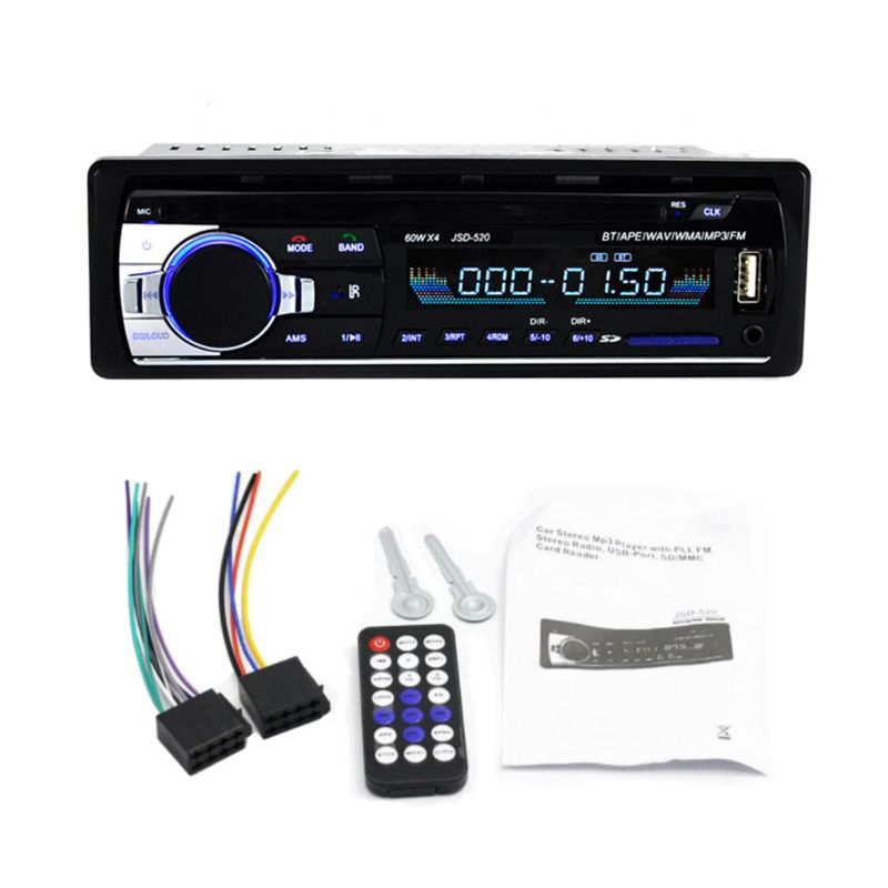 Bluetooth JSD-520 Autoradio 12V Car Radio Car Stereo Player Phone AUX-IN MP3 FM/USB/Radio Remote Control image