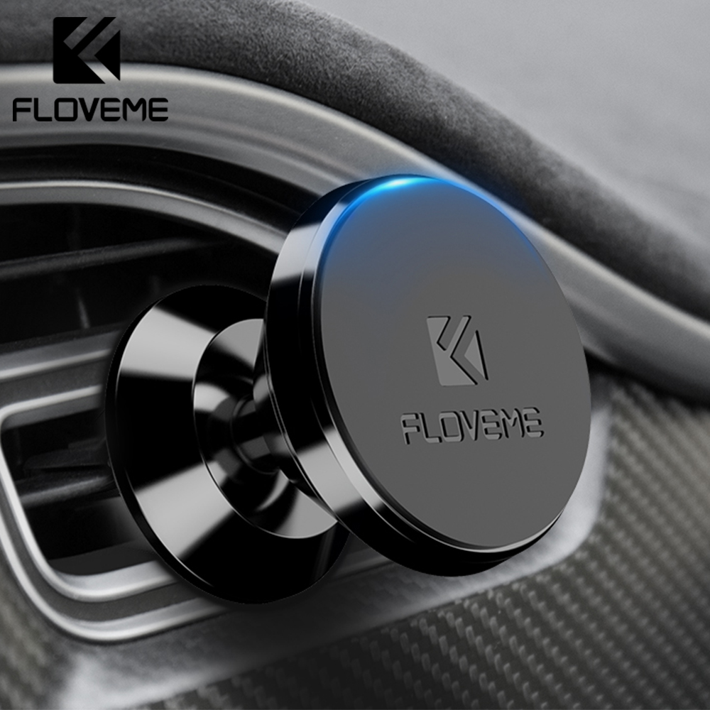 FLOVEME Magnetic Car Phone Holder For IPhone Samsung 360 Rotation Magnet Air Vent Mount Stand Holder For Phone In Car Universal