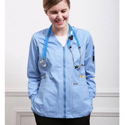 Best Selling Warm Ups Nurse Coat Jacket Top Kinetic For Women And Men Knit Cuffs Zipper Multi Pockets Warmup Nurseslabs Surgical Scrubs Work — stackexchange