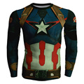 2017 New 3D Captain America crewneck Cool Superhero Long Sleeve 3d  sweatshirt basic fitness slim Marvel hooides sweatshirt 4XL