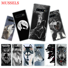 The Wolf Fierce Phone Case for Samsung Galaxy S10 Plus S10E Lite A50 A70 A30 A10 A20E M20 M10 A20 A80 A40 Cover